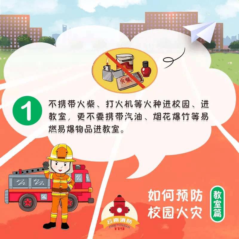 校园火灾预防小知识图片