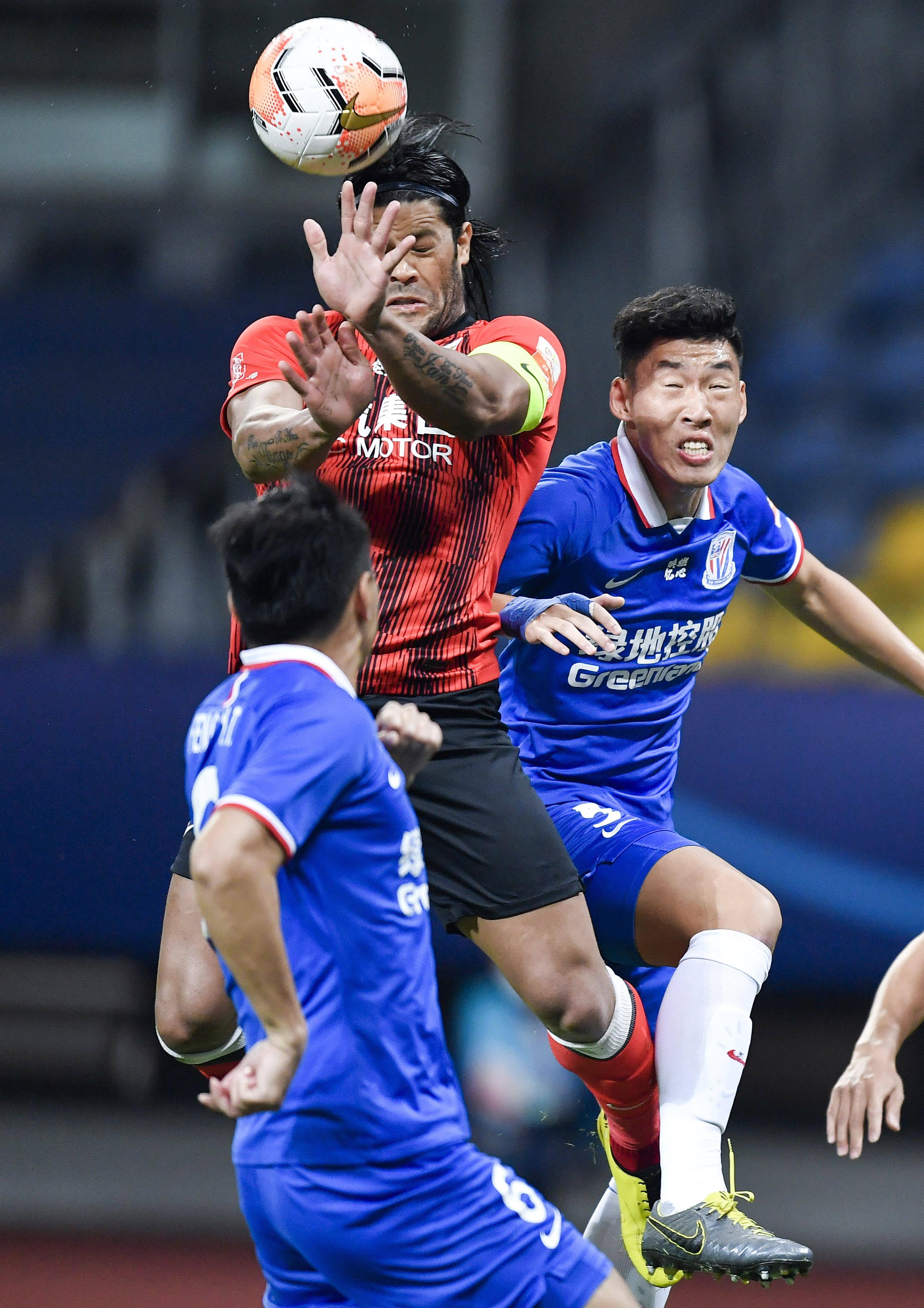 足球——中超联赛:上海绿地申花平上海上港