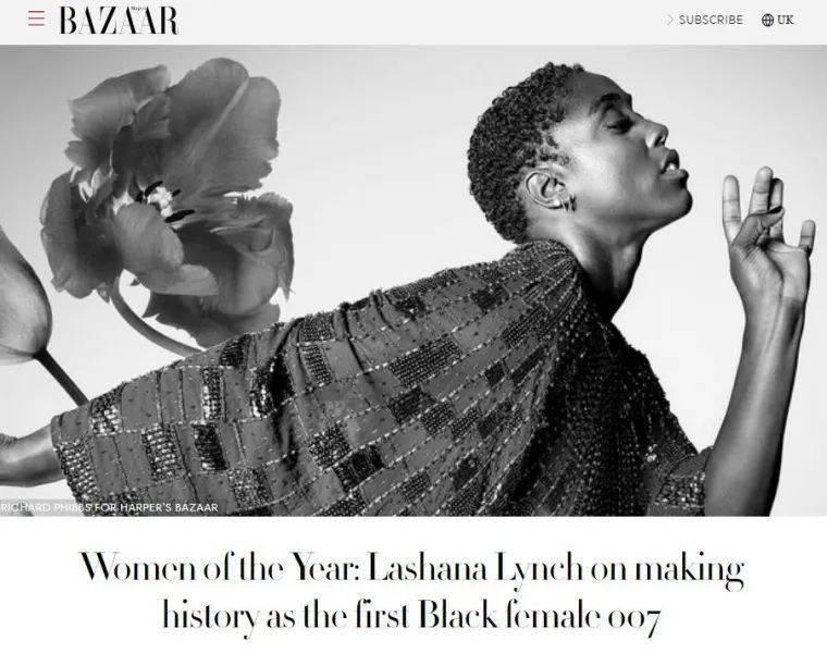 """确认!就是这名非裔女演员出演""""007"""",网友炸了,她这样说……"""