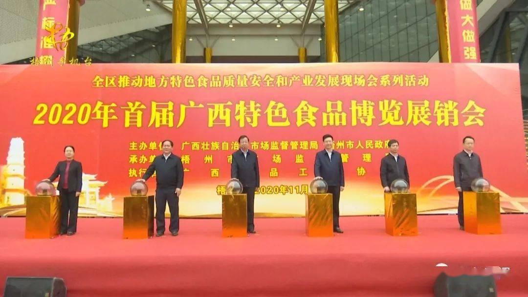 2020年首届广西特色食品博览展销会举行开幕(图3)
