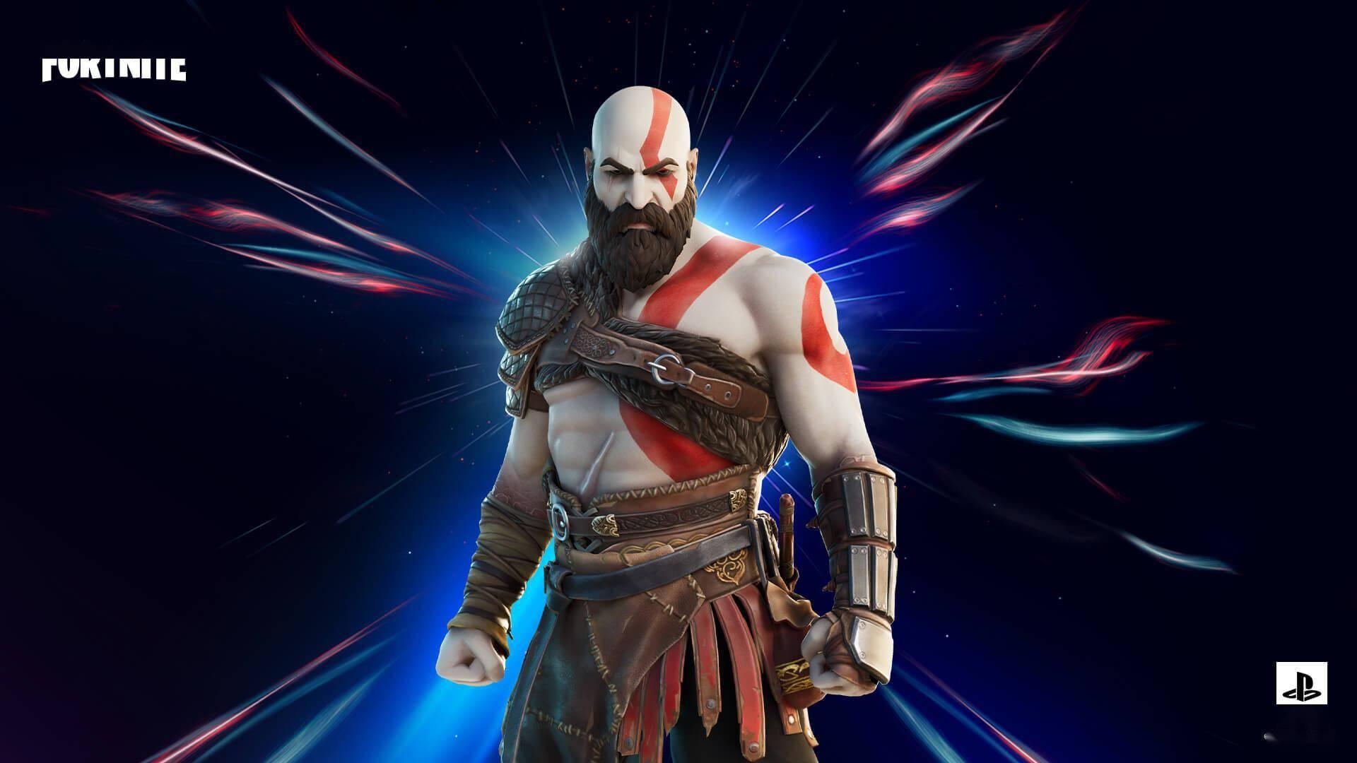 狩猎角色斯巴达之魂奎托斯踏入《堡垒之夜》战场