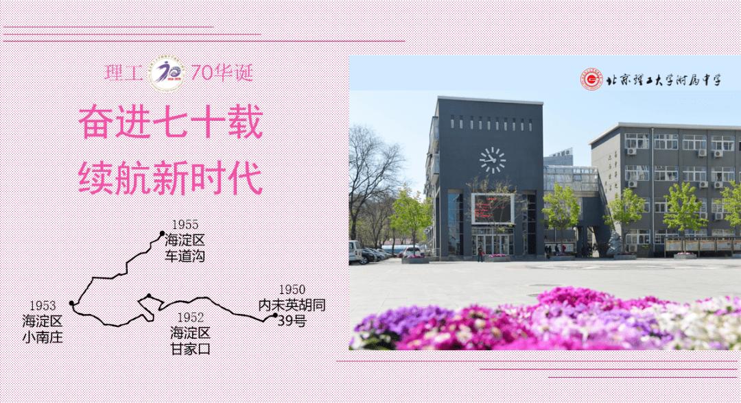 北京理工大学附属中学建校70年纪念活动公告(第3号)