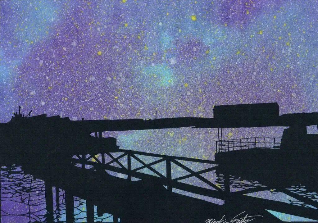 """叹为观止的东洋""""切绘"""":剪影和星空相结合,浪漫又梦幻"""