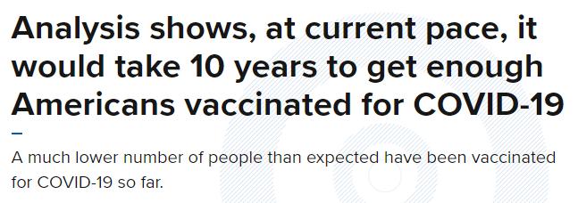 """环球深观察丨美国疫情数据再创新高,""""疫苗奇迹""""在哪里?!"""