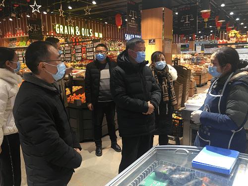县委书记冯俊涛率队检查冷链食品监管 工作开展情况