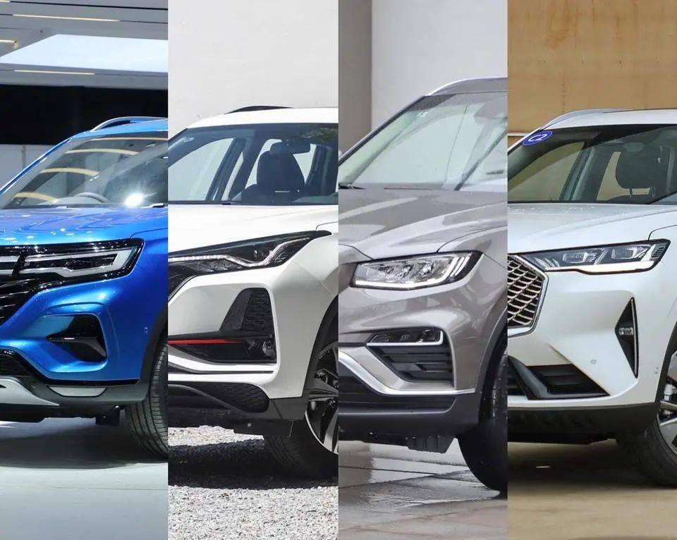 去年最畅销的SUV都在这里。第一名和第二名相差10万台,太可怕了
