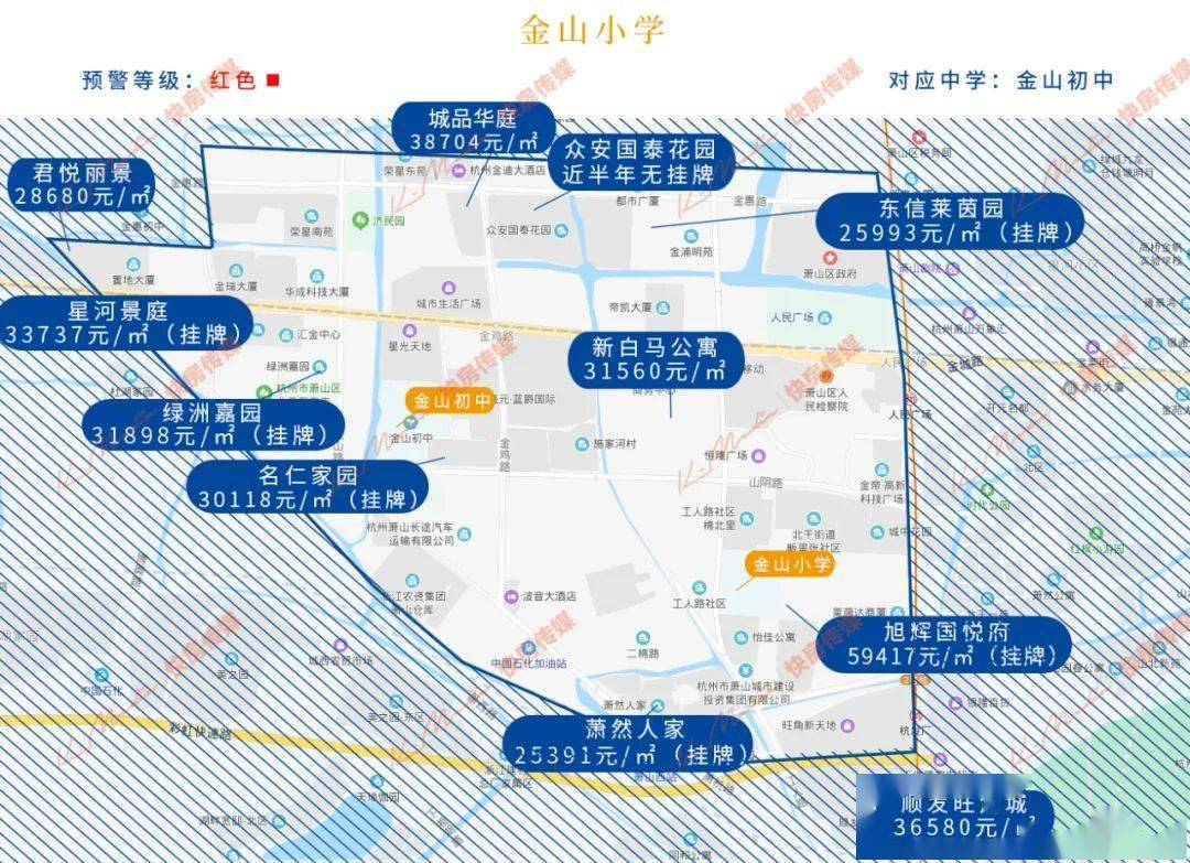 2021红色预警!最新杭州热门学区房价地图出炉!家长收好!