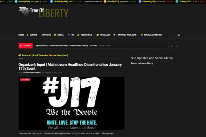 因煽动在美暴动 加拿大一反政府网站被关闭