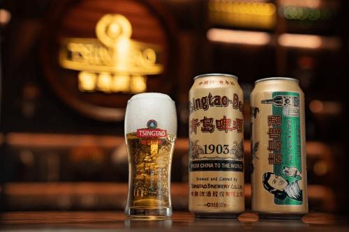 国潮再起,青岛啤酒1903国潮罐焕新装,携手汪涵直播间首发喜迎开门红