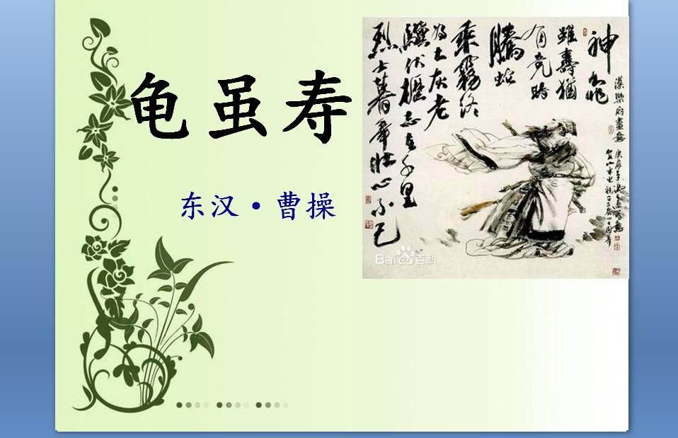 龟虽寿原文及翻译(龟虽寿的全诗意思)