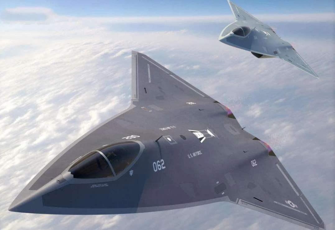 美国第六代战机试飞,已经没有了战机的空中缠斗 ; 有无数无人飞机伴飞,相当于空中航母!