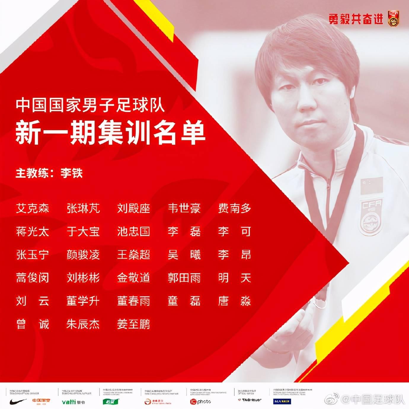 国足新一期集训名单:卓尔四将入选,还有这两名武汉球员……