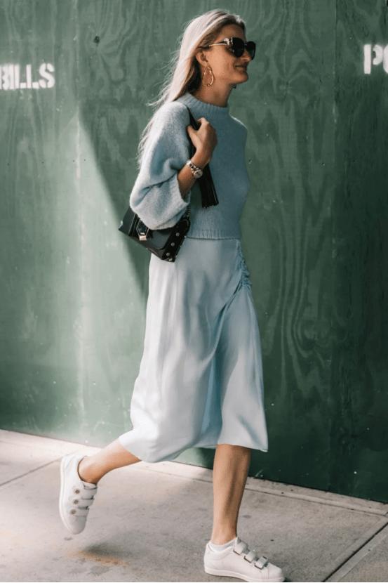 大毛衣+半裙 2020的气质通勤装就靠它了! 时尚家庭 第12张