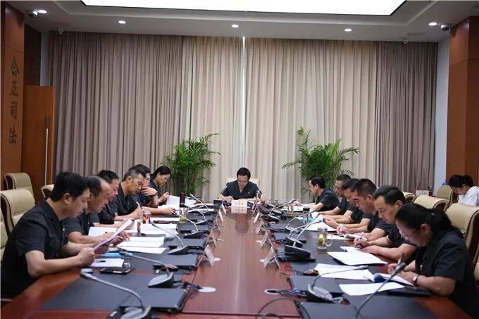 建湖法院党组理论学习中心组专题学习《习近平谈治国理政》第三卷