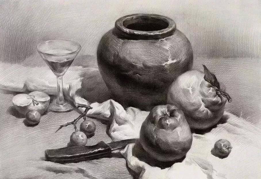 素描罐子结构特征及表现手法讲解(带结构图)
