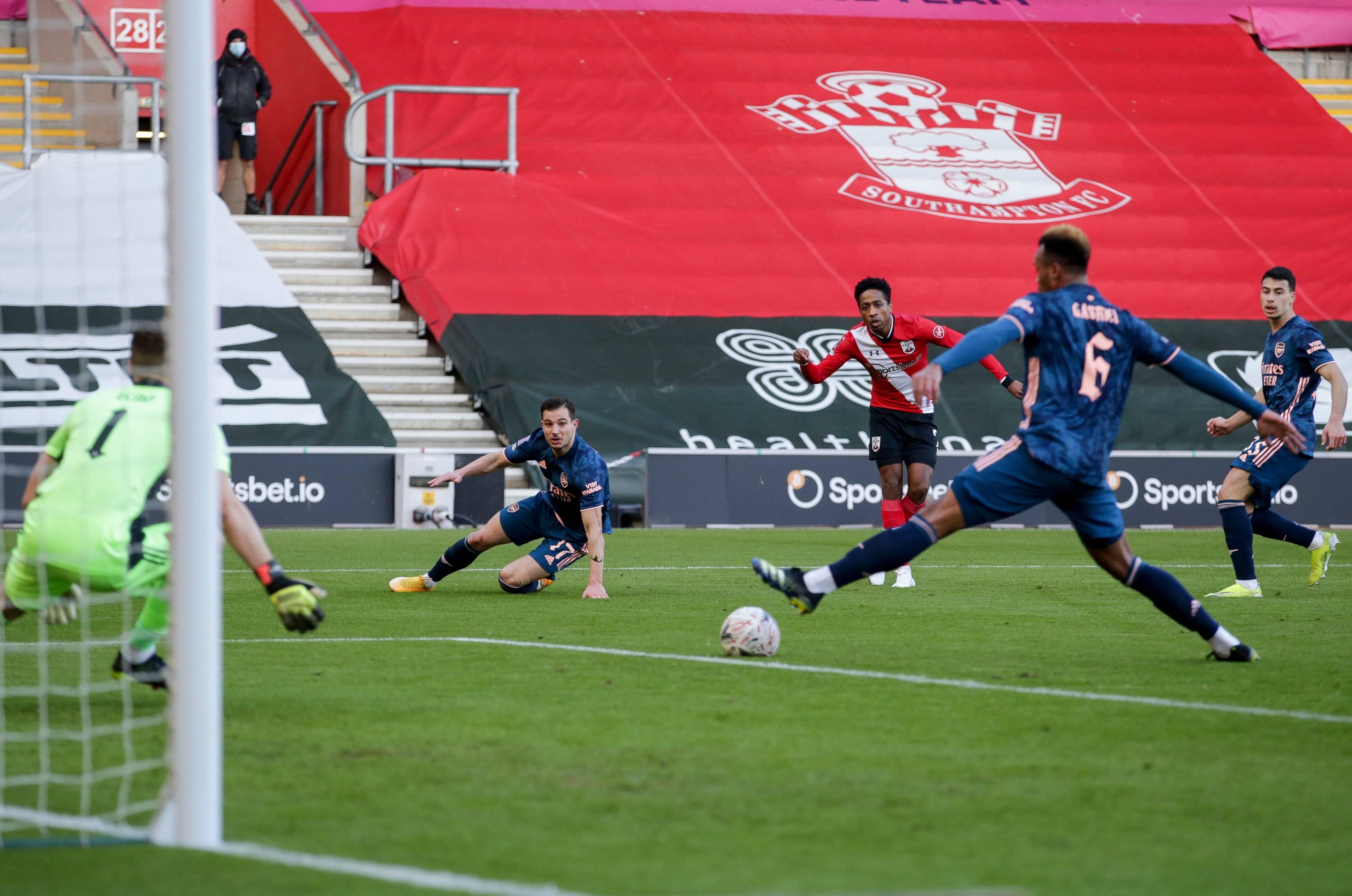 阿森纳0-1不敌南安普顿,停步足总杯第4轮
