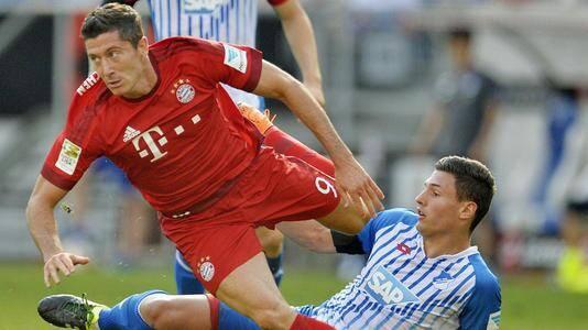 德甲第19轮打响,拜仁慕尼黑主场对阵霍芬海姆