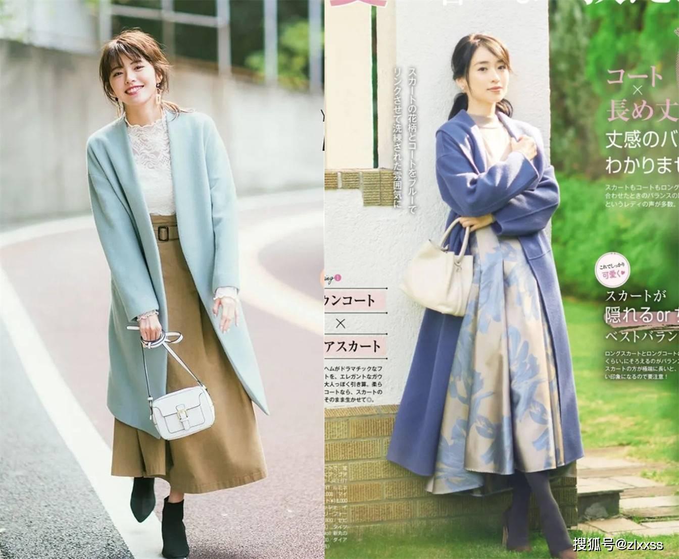 原创2021年早春火了一种穿搭,叫大衣+裙子:也太好看了吧!