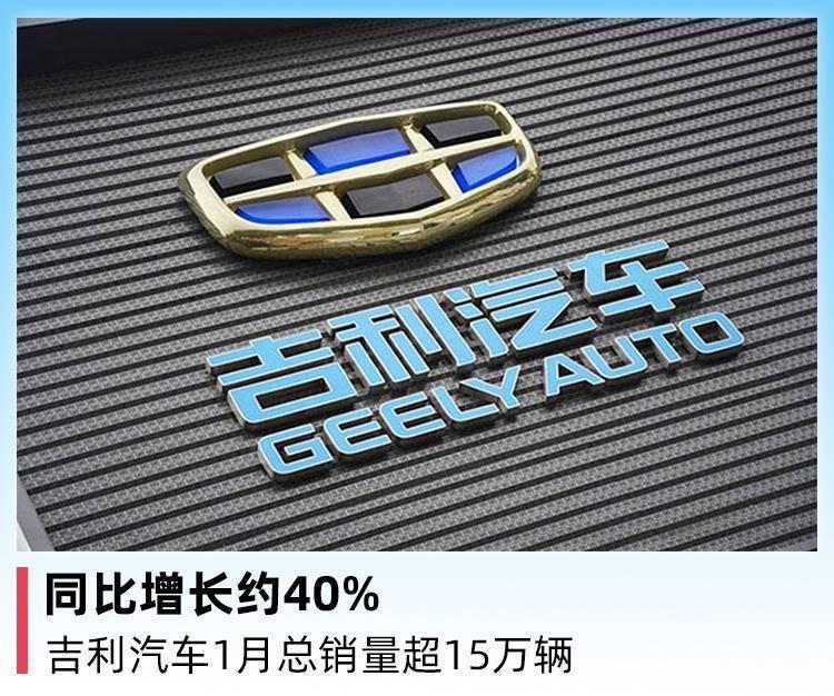 同比增长约40%,吉利汽车1月总销量超15万辆_销售