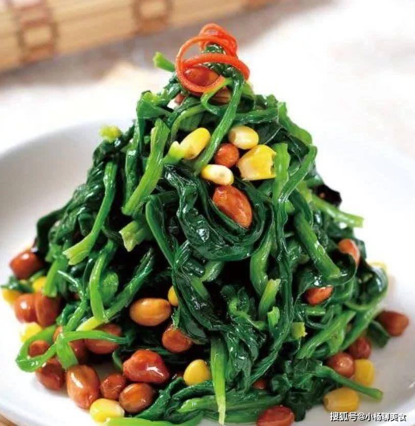 菠菜和此物天生一对,搭配颜值高,营养价值还丰富,凉拌热炒都好