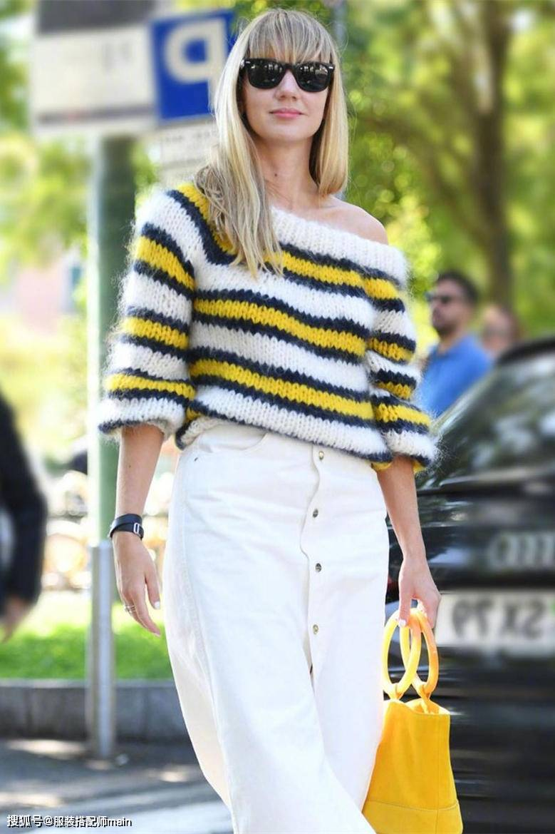 原创             毛衣别只会选纯色!条纹设计不呆板,加点色彩会更时髦