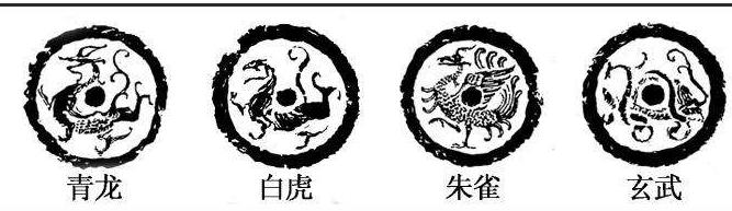 中国古代神话的天之四灵:青龙、白虎、朱雀、玄武