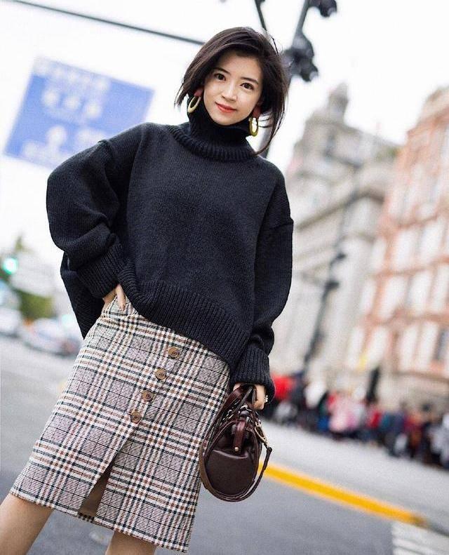 早春单穿毛衣可真美,三木博主3招穿衣法,从选款到搭配值得学