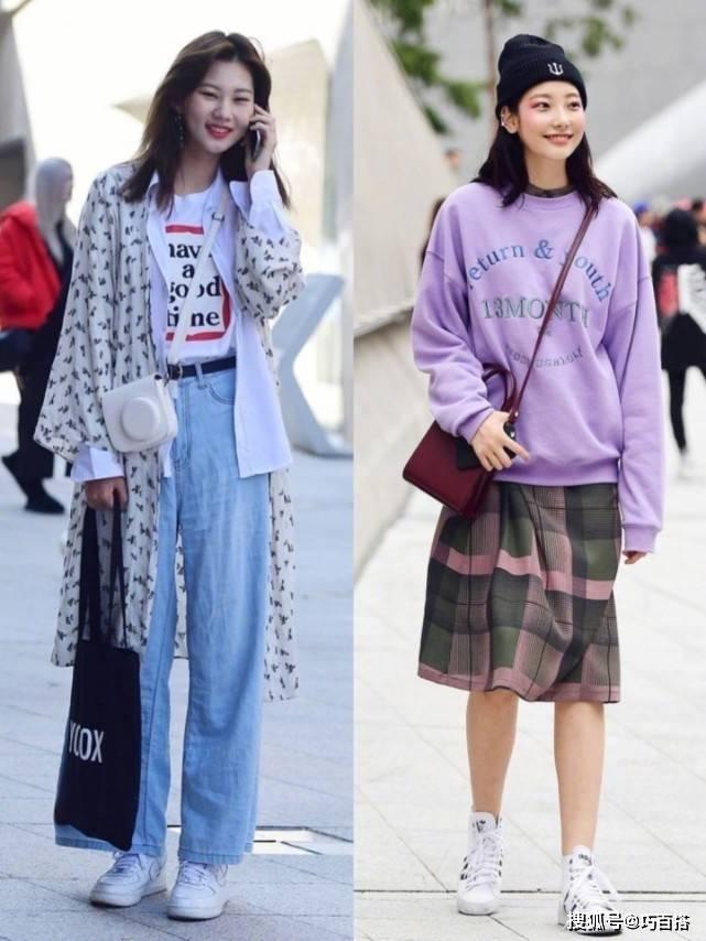 韩国女生也太会穿了!春季街头变秀场,信手拈来都是时尚画报