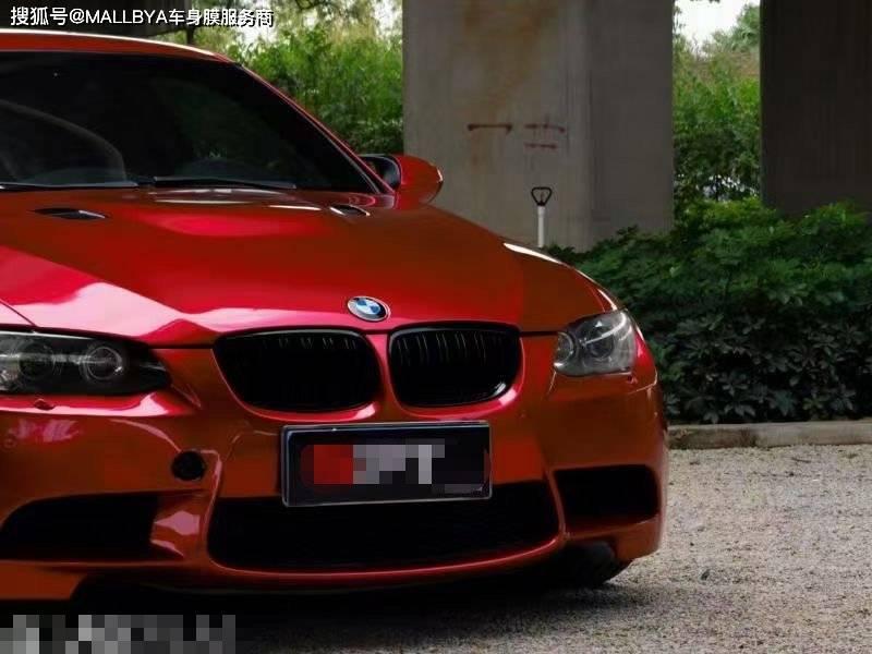 这辆宝马M3,变色变红,绝对是街上最美的风景