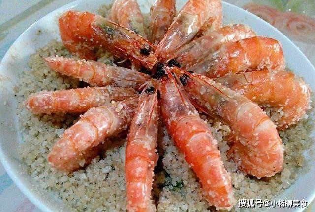"""盐焗虾只需五步就能做好,最后加点""""它"""",盐焗虾更入味更鲜美"""
