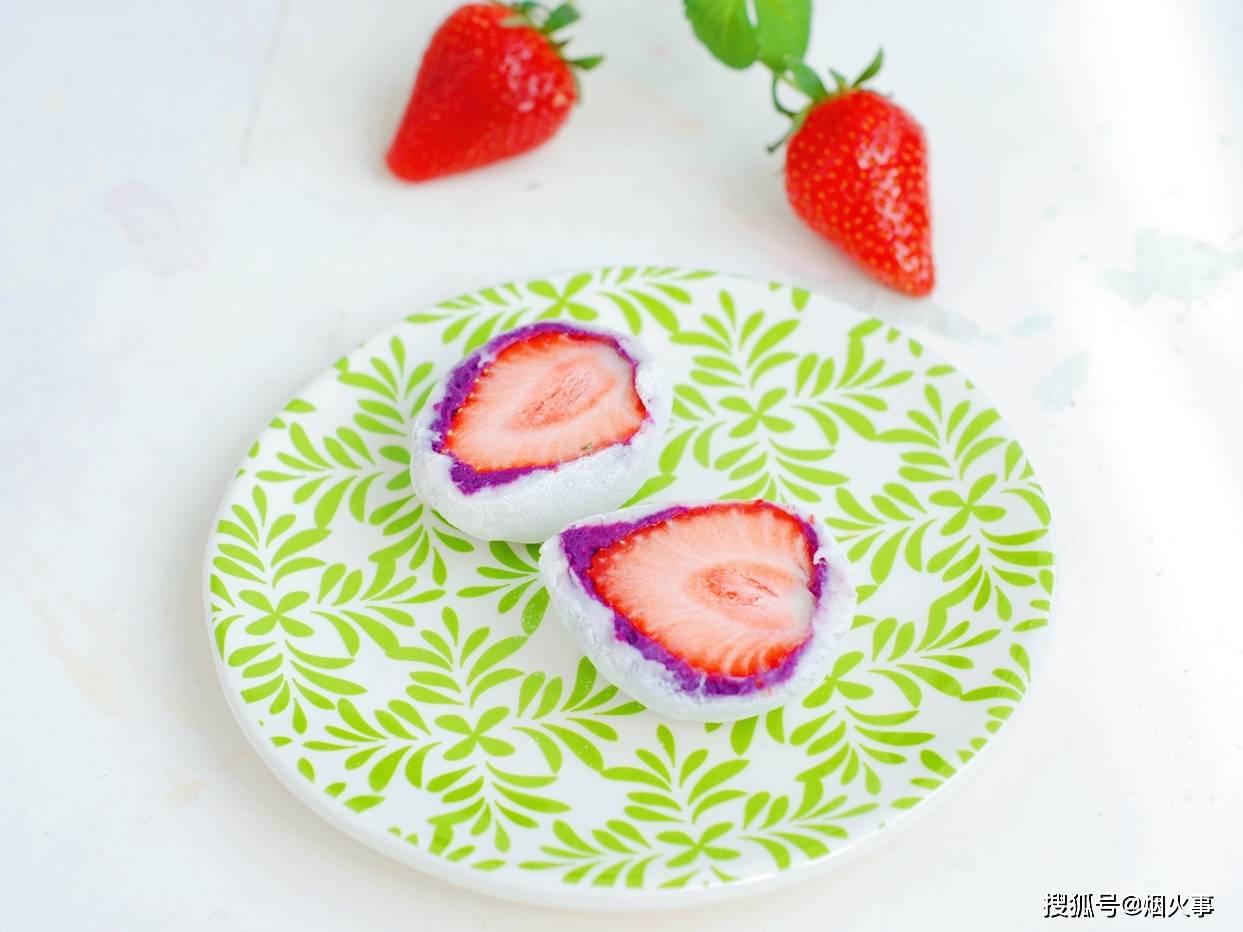 元宵节不爱吃汤圆,教你做高颜值的草莓大福,