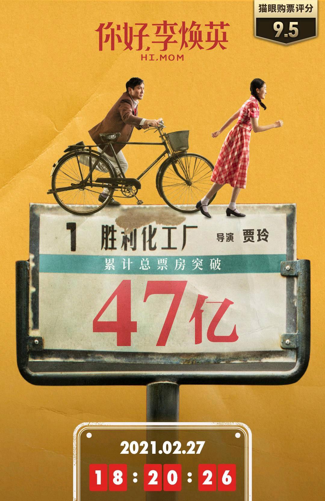 破47亿,你好李焕英总票房超流浪地球,挺进中国影史票房榜前三