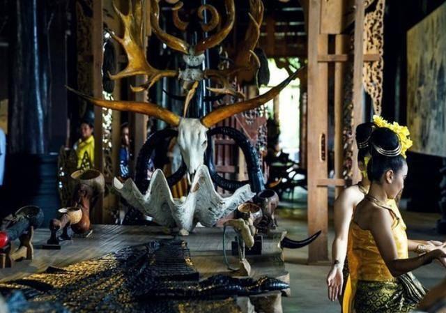 """泰国最""""独特""""寺庙,不供奉佛像,却陈列各种动物标本"""