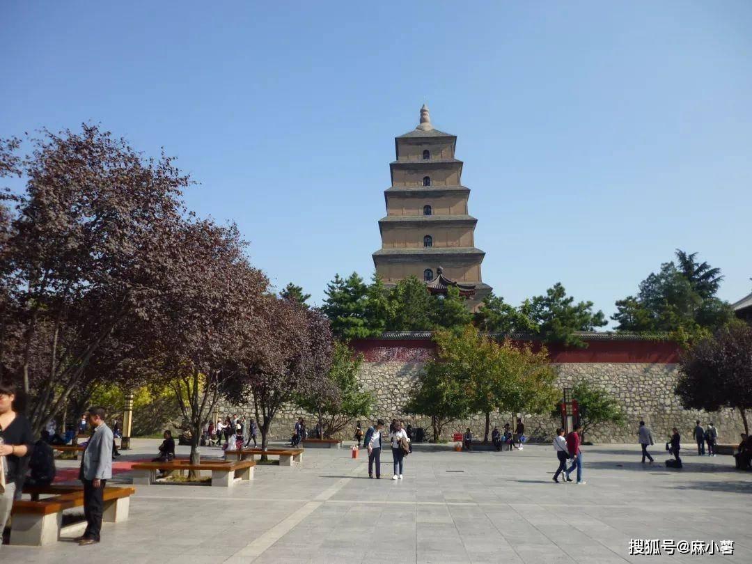 西安一座古老的佛塔,唐三藏从这里出发西天取经,登塔要另收门票