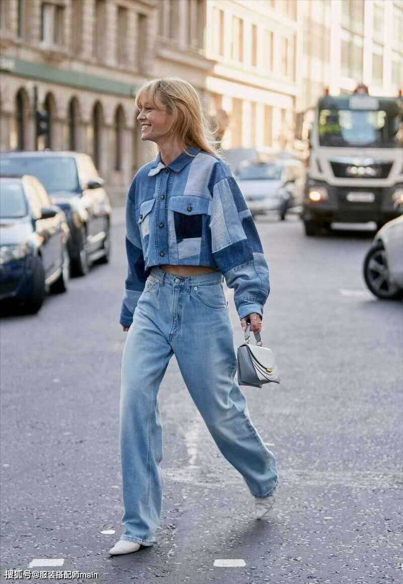 """小个子女生,建议多穿""""短外套+高腰裤"""",改善比例又显高"""