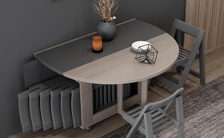 餐厅面积太小?餐桌椅、餐边柜这样设计,小户