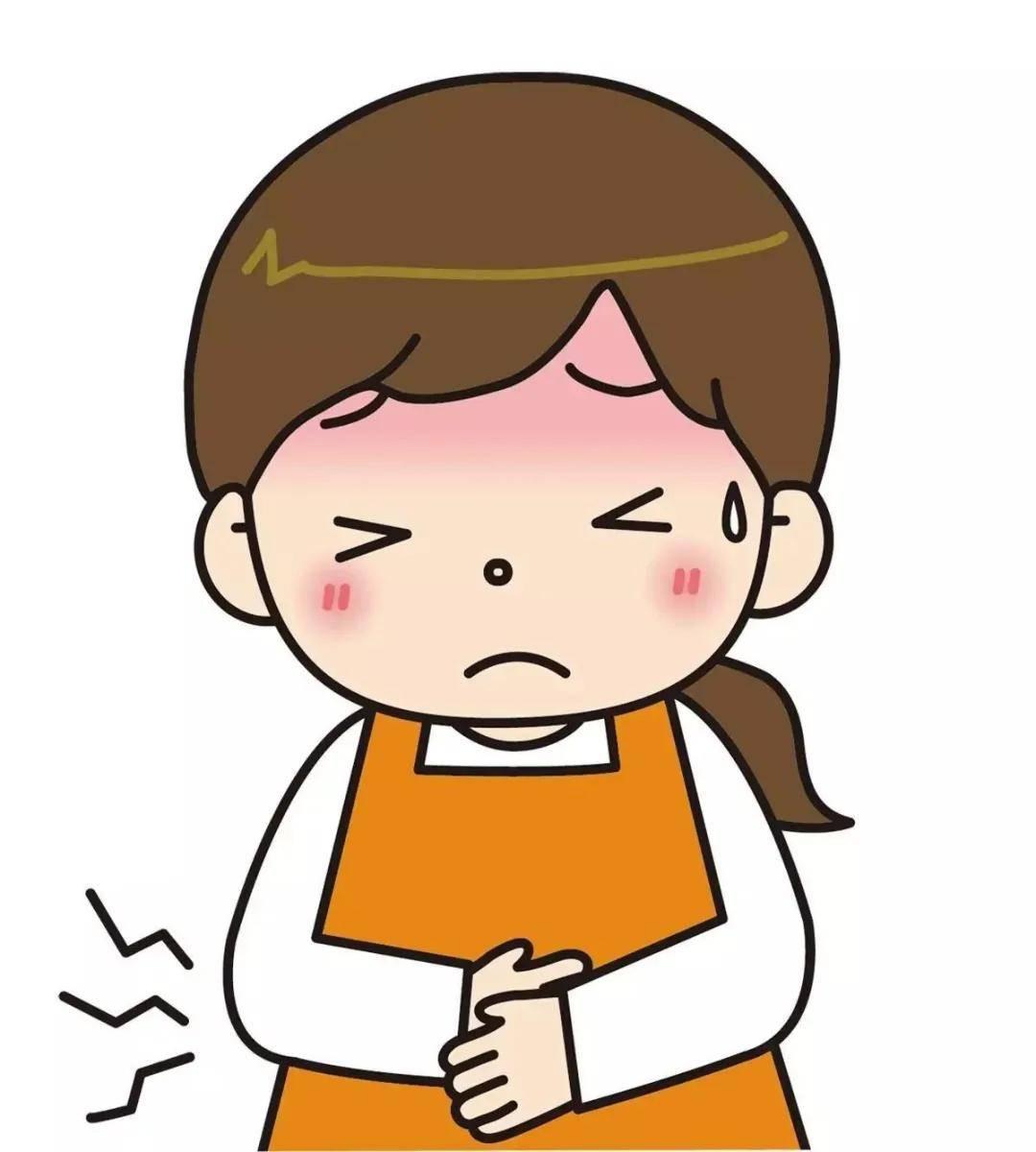 胃疼和肚子疼的示意图 上腹部正中间疼痛