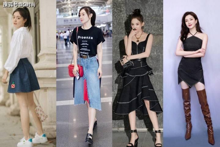 春季的时髦单品很多,但牛仔裙依旧不可或缺,实穿又有范