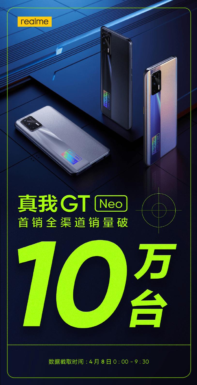 全球首款天玑1200 真我GT Neo让体验感全面加速