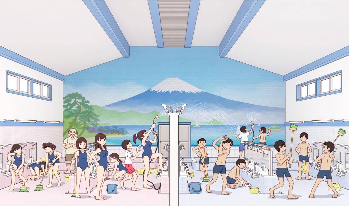 """日本画师笔下的""""青春期""""热评却是:太日本了!高中生才不这样插图5"""