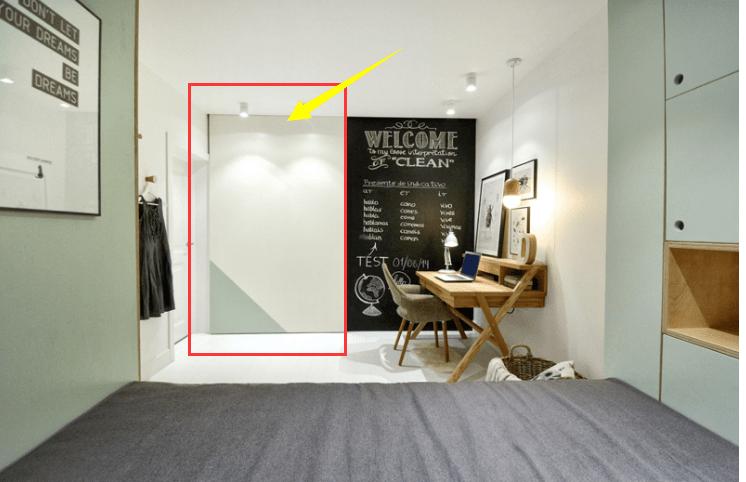 床四周留空30公分,别说书房连衣帽间都有了,小户型装修教科书!