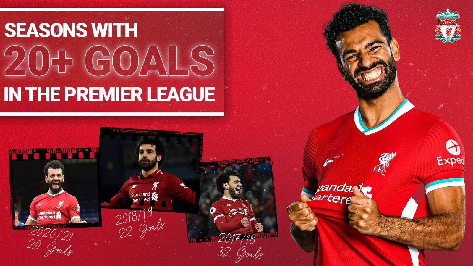 利物浦1-1纽卡!萨拉赫建功 队史首位英超时期3赛季进球20+