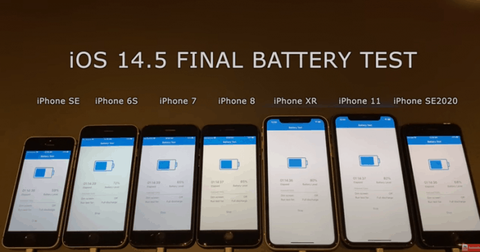 原创             外媒测试iOS 14.5 电池续航力 大部分 iPhone 有小幅提升