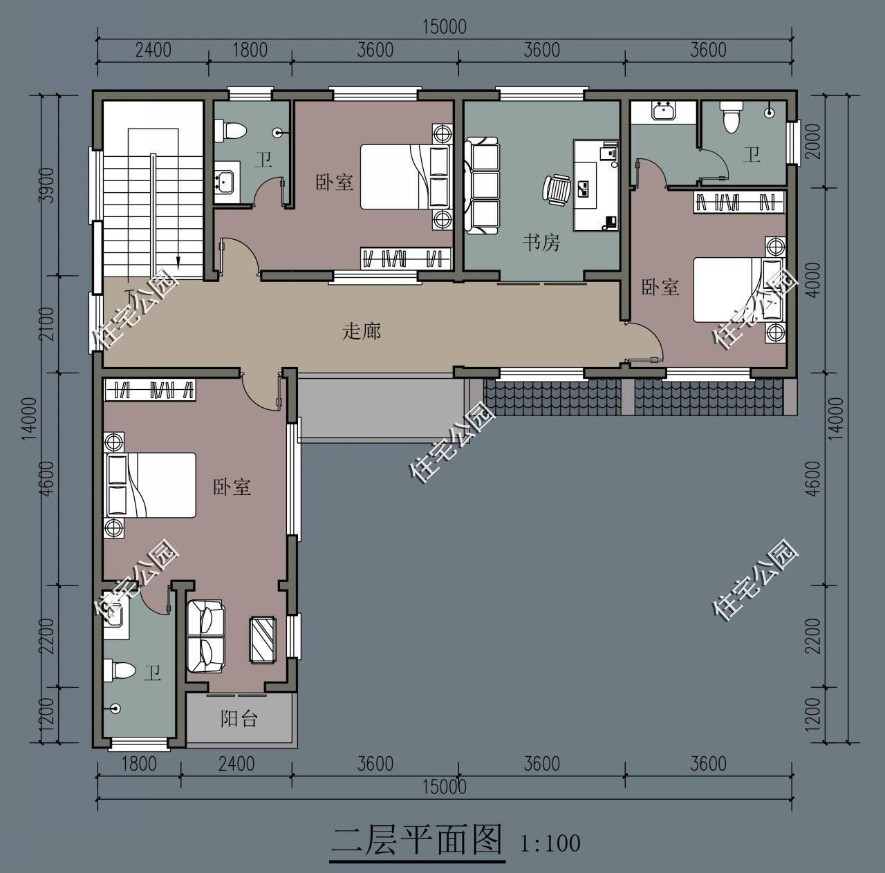农村宅基地15×15米,建房想要个院子,怎么设计