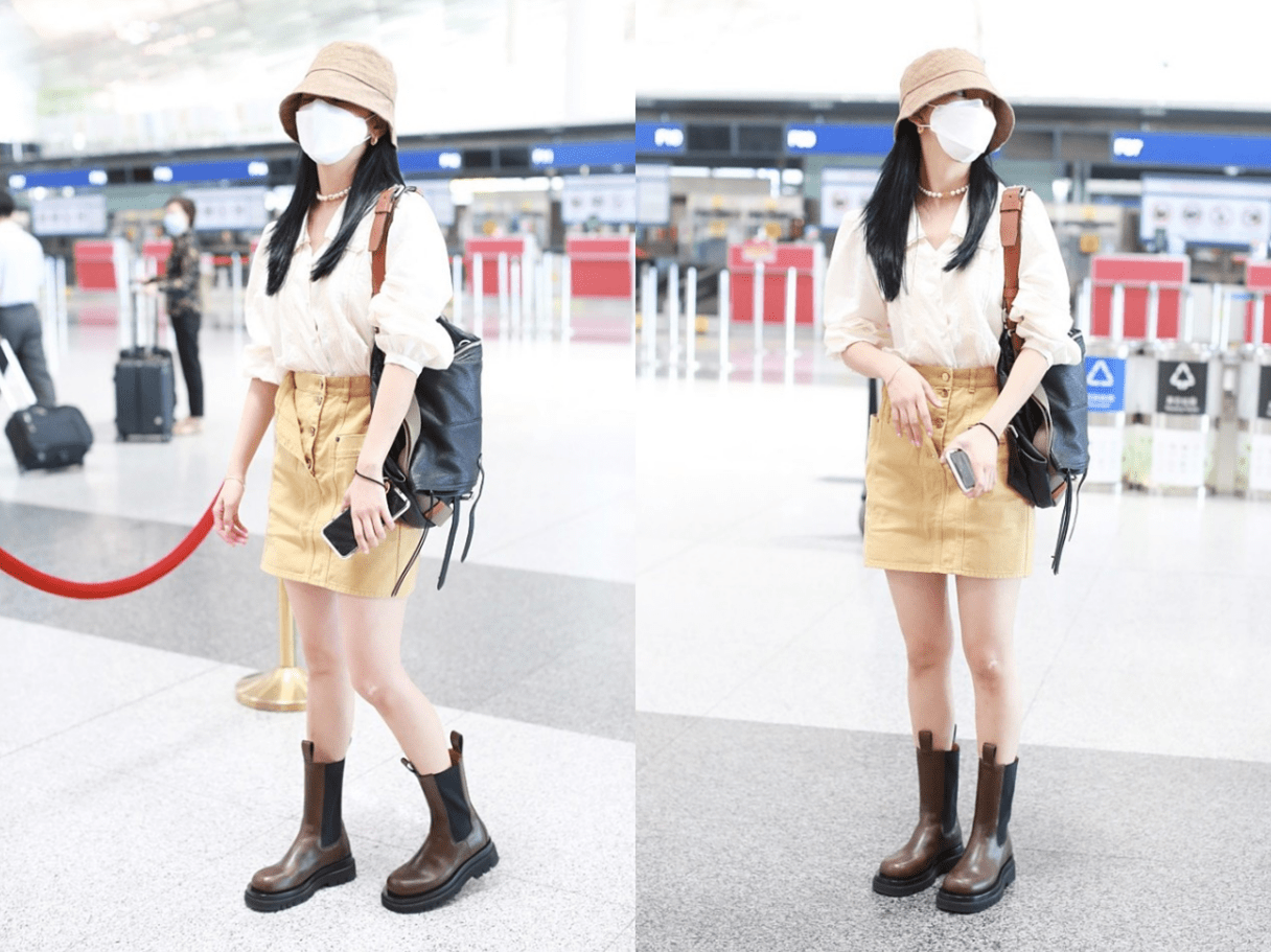 原创             《你的婚礼》章若楠穿得真清纯,白衬衫配短裤像大姐姐,气质真好