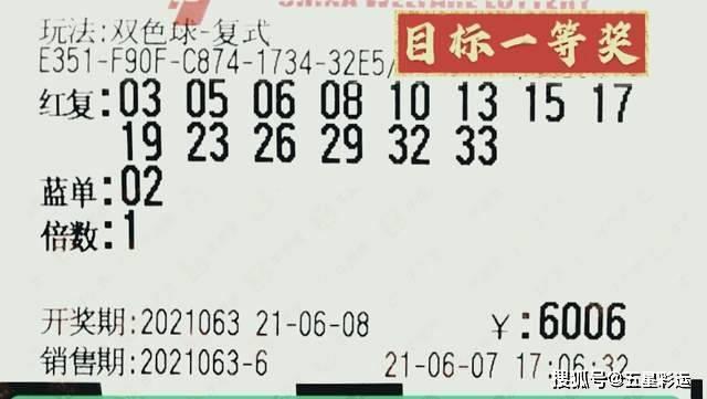 双色球2021063期:开出了蓝球09,三等奖开出3611注
