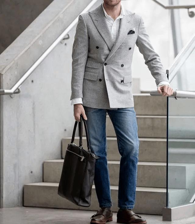 西装搭配牛仔裤 教你穿出时尚型男感~ 爸爸 第9张