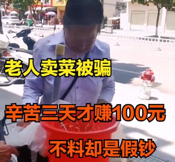 老人辛苦卖菜3天,却被女子用假钱换走零钱,民警连夜追踪百余里抓捕