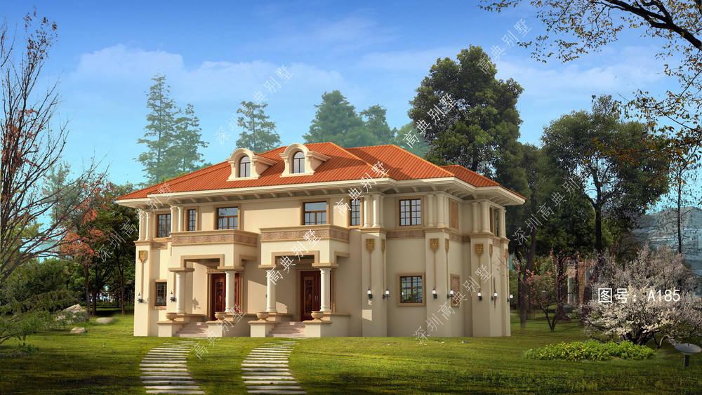 这款欧式双拼小别墅,外观豪华,带酒窖、家庭影院、健身区。