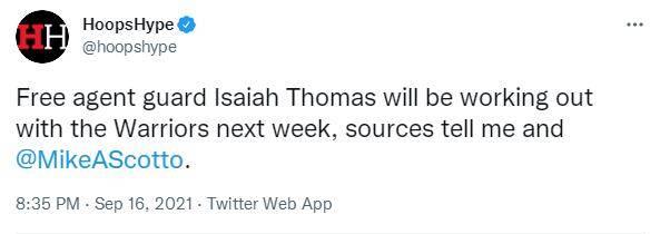 北京时间9月16日,NBA记者迈克尔-施密特报道,勇士队将在